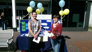 Gemma and Emily on the day - Deal High St dementia awareness