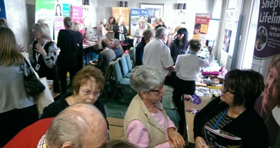 Visitors arriving to the Care Fair